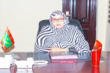الناها بنت هارون ولد الشيخ سيديا: وزيرة الشؤون الاجتماعية والطفولة والأسرة