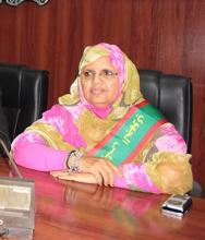 فاطمة بنت عبد المالك: رئيسة جهة نواكشوط