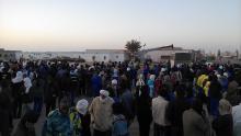 صور لتوقف جزئي لعمال اسنيم في انواذيبو