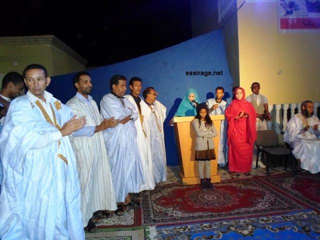 جانب من تكريم الممثلين المشاركين في فلم تيتا بائعة النعناع (السراج)